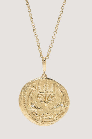 Limited edition Of the Sea large diamond coin necklace
