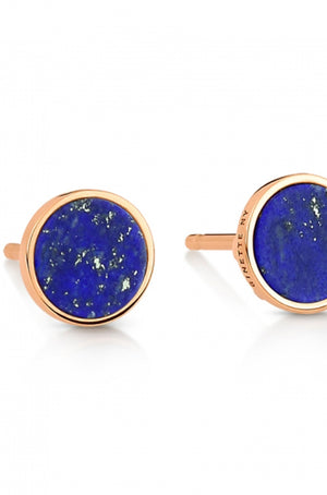 Ginette NY - ever lapis disc studs, rose gold