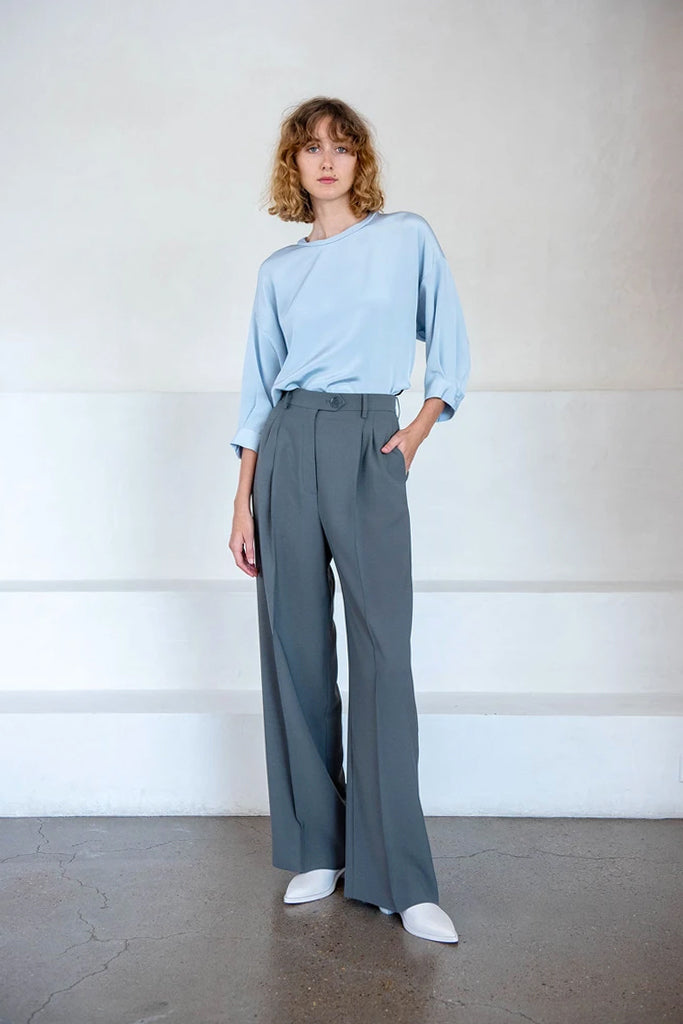 burnell trouser, pewter