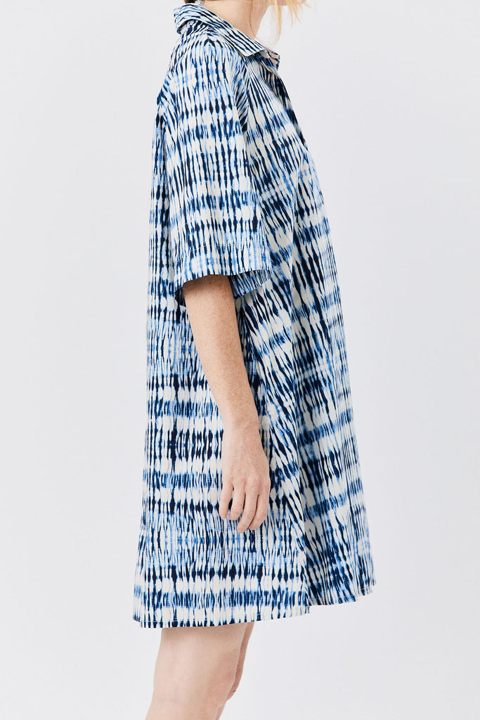 Barena Venezia - Tie Dye Dress, Blue & White