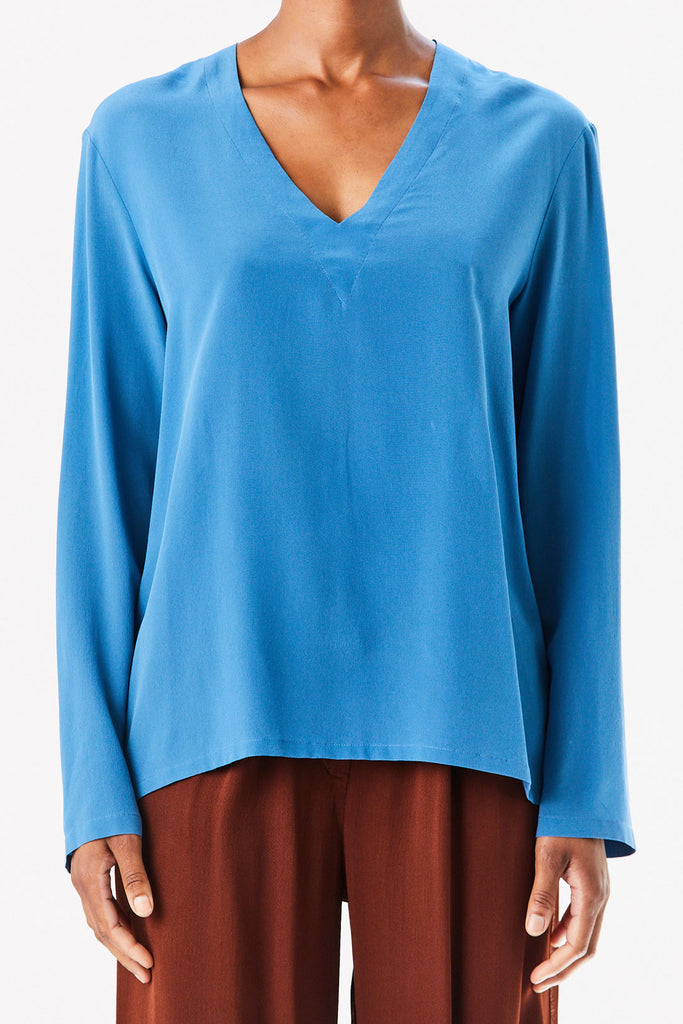 Barena Venezia - V Neck Top, Light Blue
