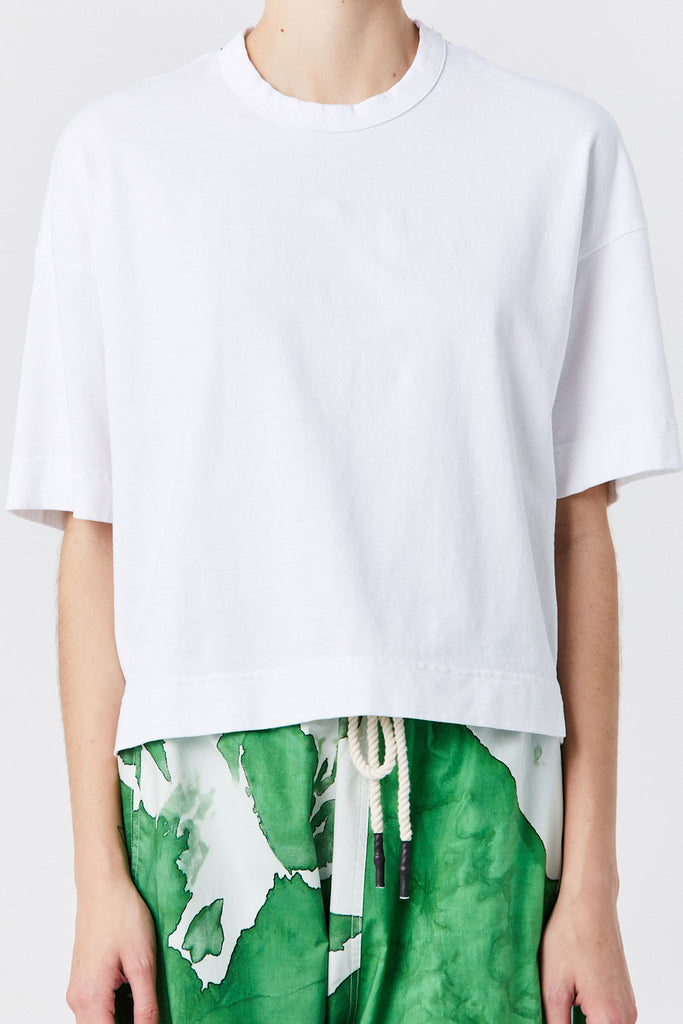 BASSIKE - Double Jersey Boxy Tee, White