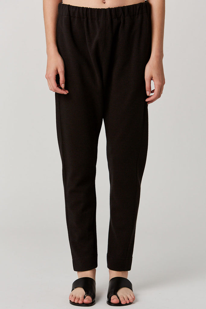 BASSIKE - Pique Fleece Panelled Pant, Black