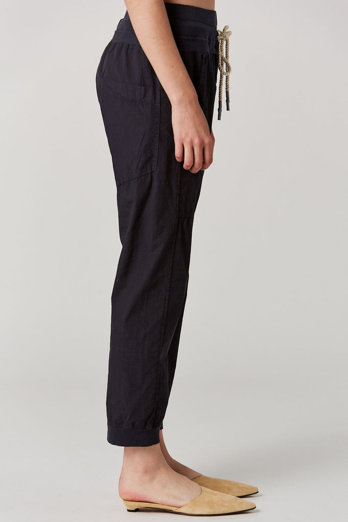Bassike - Utility Cotton Jersey Pant, Dark Navy