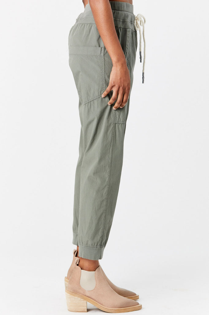 BASSIKE - Utility Cotton Jersey Pant, Army