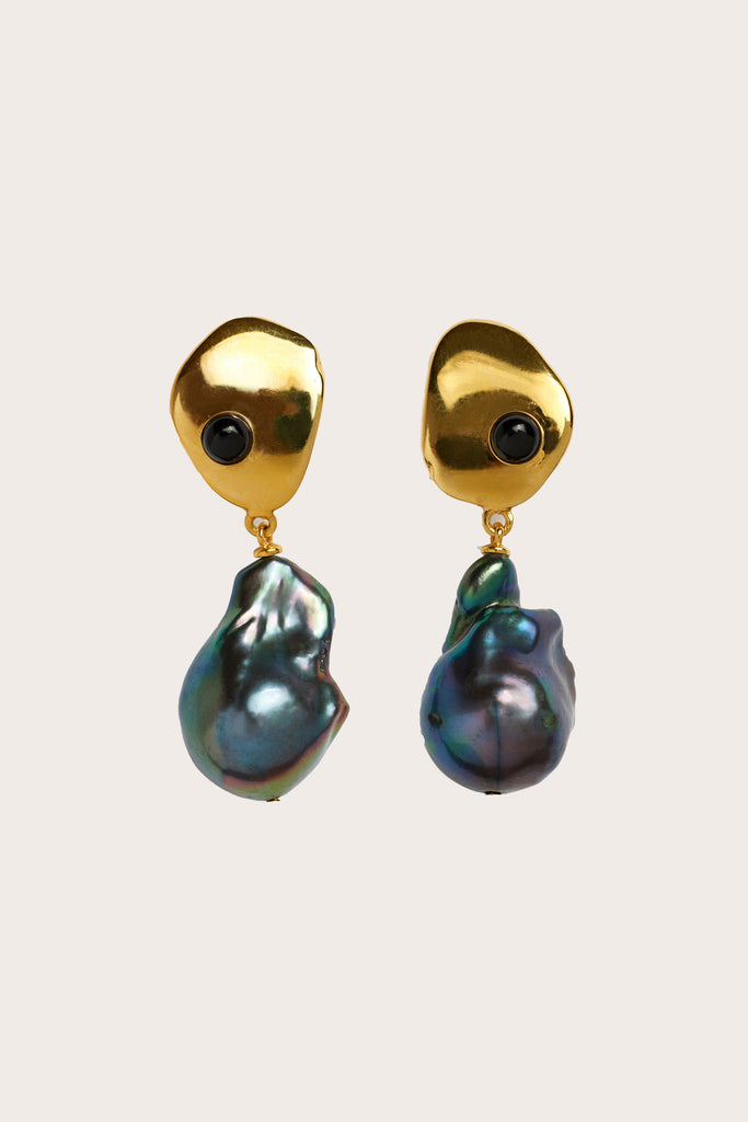 Lizzie Fortunato - Black Sand Earrings