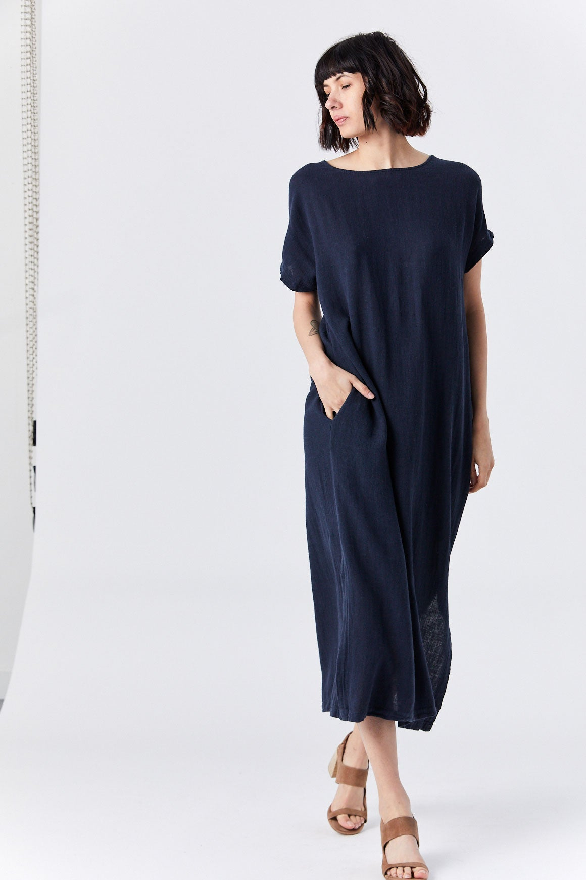 Black Crane - Ester Dress, Dark Navy