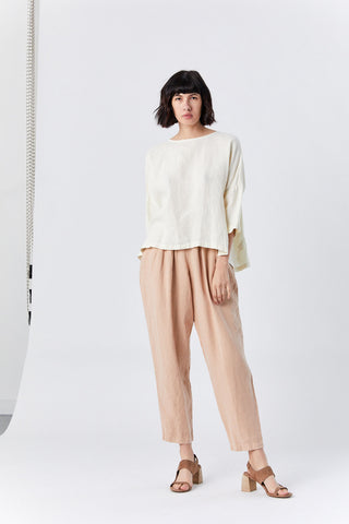 Gathered Top, Cream
