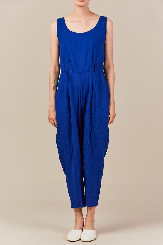 Black Crane - overall, royal blue