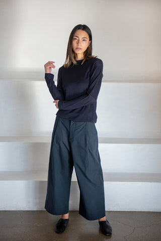 Daikoku knit crew top, dark navy