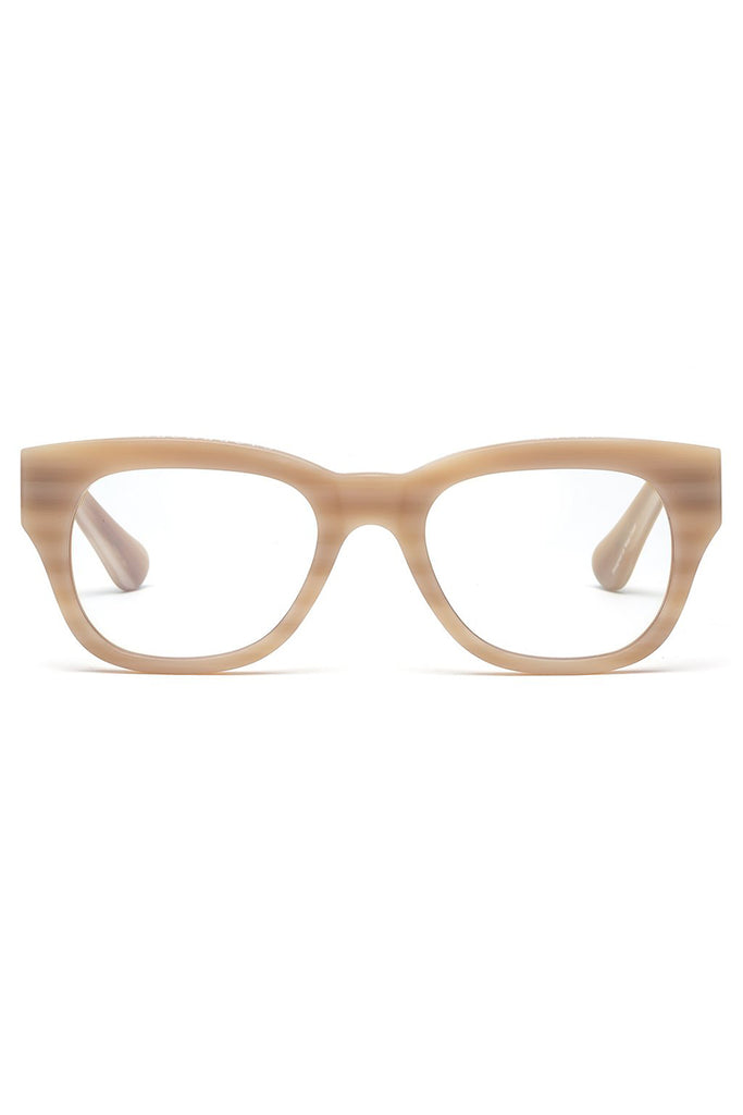 MIKLOS reader glasses, matte bone