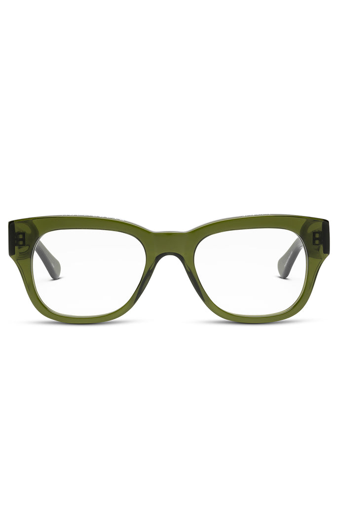 MIKLOS reader glasses, heritage green