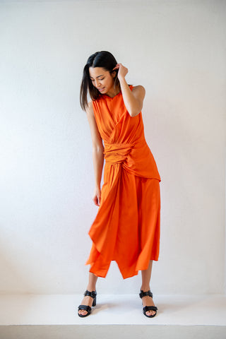 Davu sleeveless dress, fire
