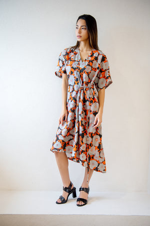 Christian Wijnants - Dimbani short sleeve dress, poppy