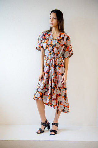 Dimbani short sleeve dress, poppy