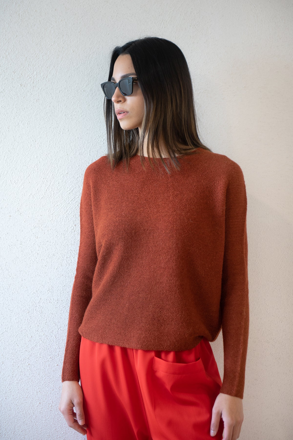 Christian Wijnants - KASIMA baby alpaca sweater, rust