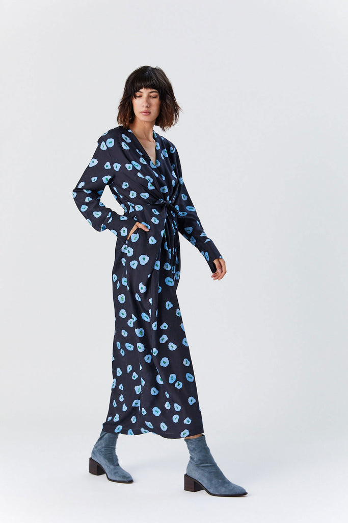 Christian Wijnants - Darka Dress, Moonflower Blue/Navy