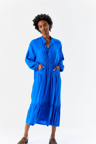 Dayam Dress, Blue