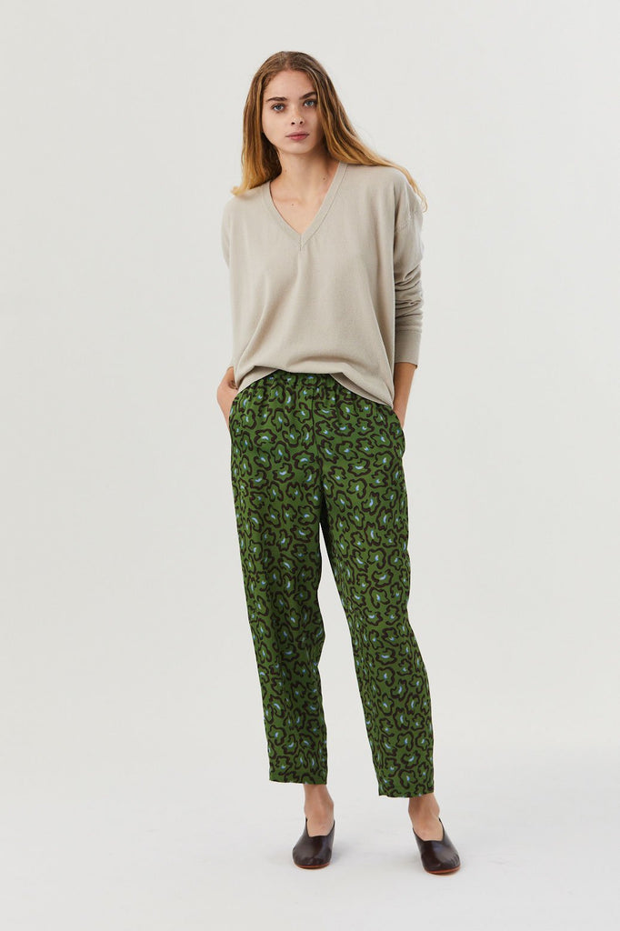 Paney Pants, Leopard Green