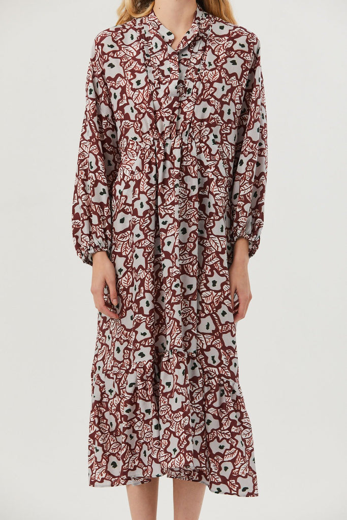 Christian Wijnants - Dayam Dress, Leo Flower Rust