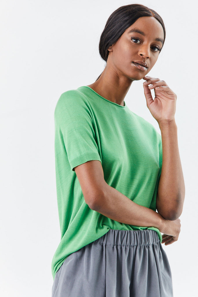 Christian Wijnants - Kyoko Knitted Tee, Green