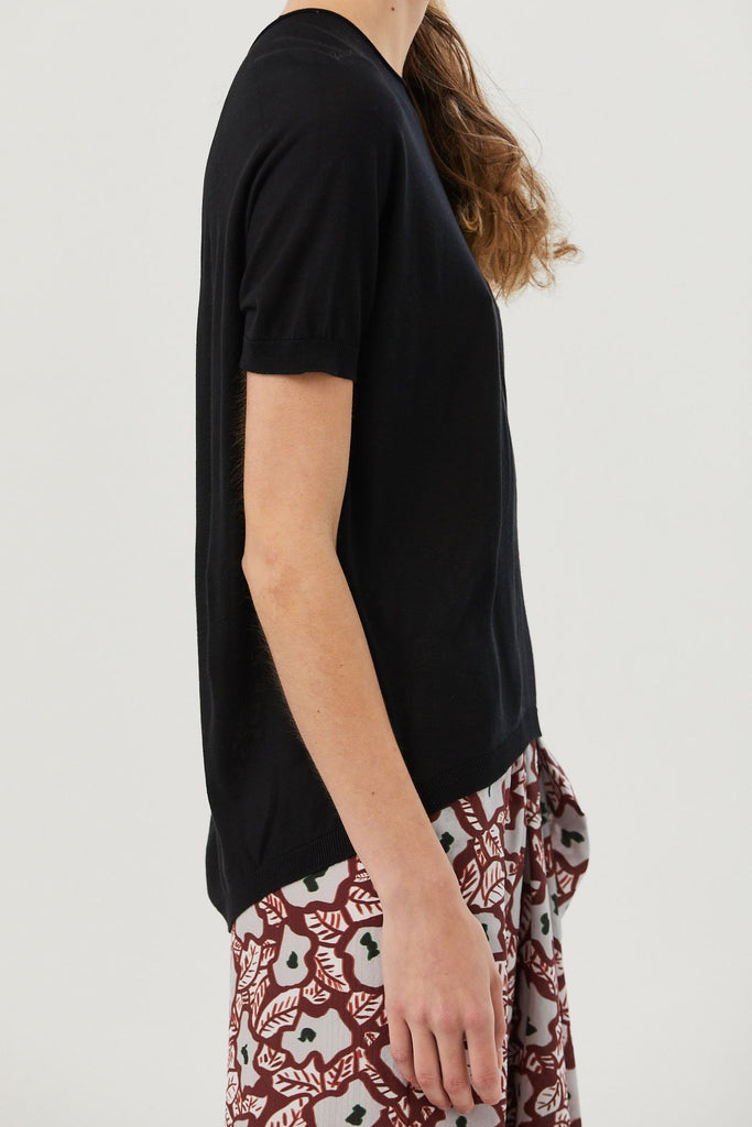 Christian Wijnants - Kyoko Knitted Tee, Black