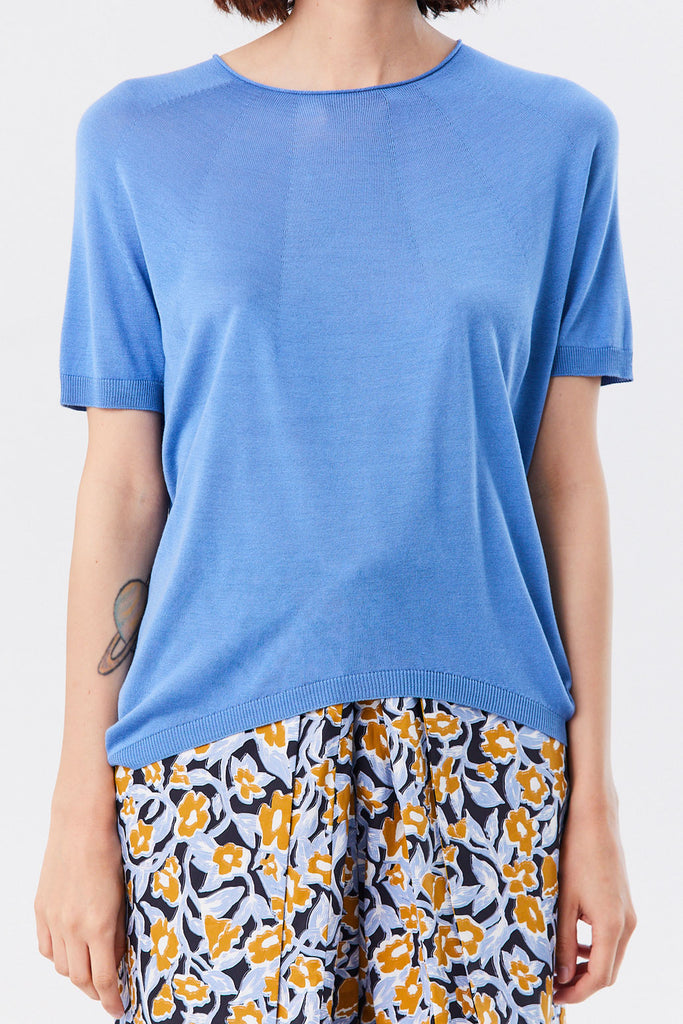 Christian Wijnants - Kyoko Knitted Tee, Blue