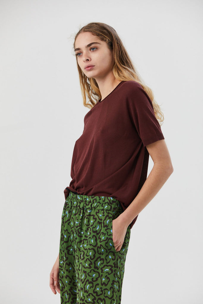 Christian Wijnants - Kyoko Knitted Tee, Bordeaux