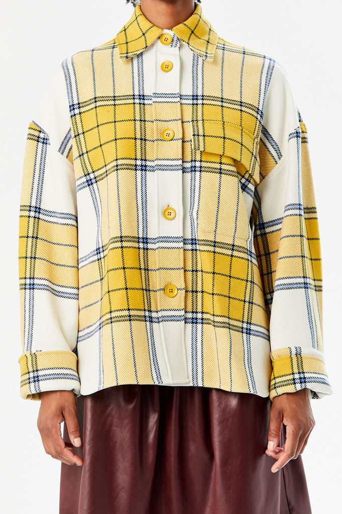Taja Jacket, Big Checks Mustard