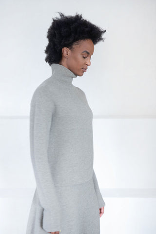 kerif wool turtleneck, tundra