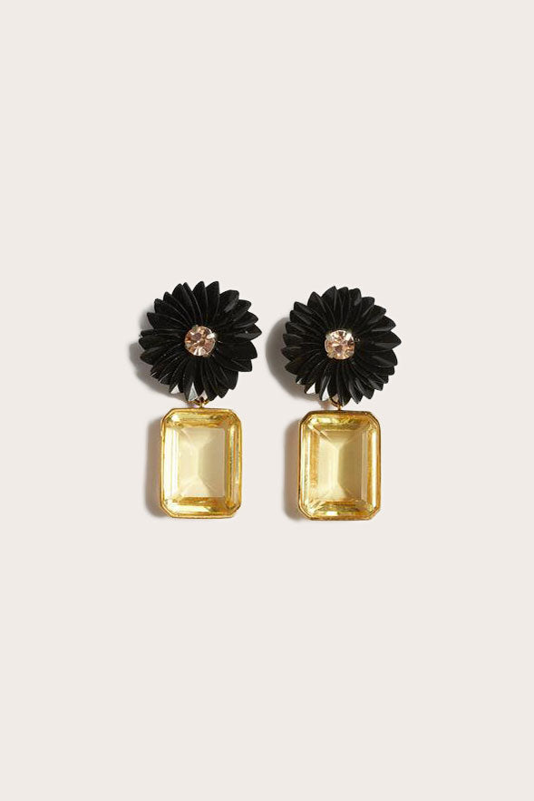 Lizzie Fortunato - Citrine Flower Earrings