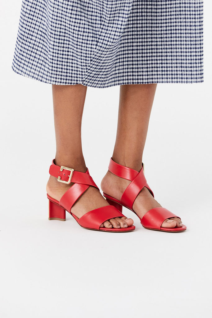 Clergerie - Agrume Heeled Sandal, Hibiscus