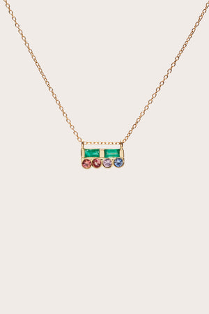 Scosha - Cloud Bar Necklace, Gold