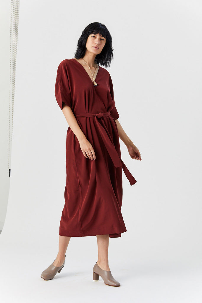 Caftan Dress, Bordeaux