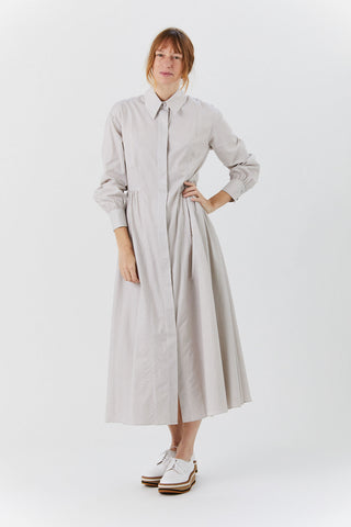 Long Sleeve Dress, Light Taupe Stripe