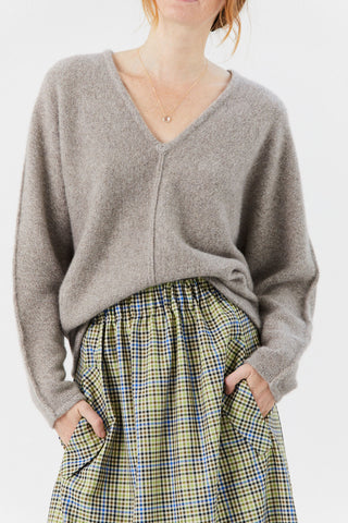 Cashmere Knit Sweater, Light Taupe