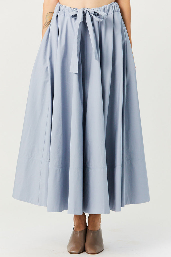 CO - Tie Waist Skirt, Light Blue