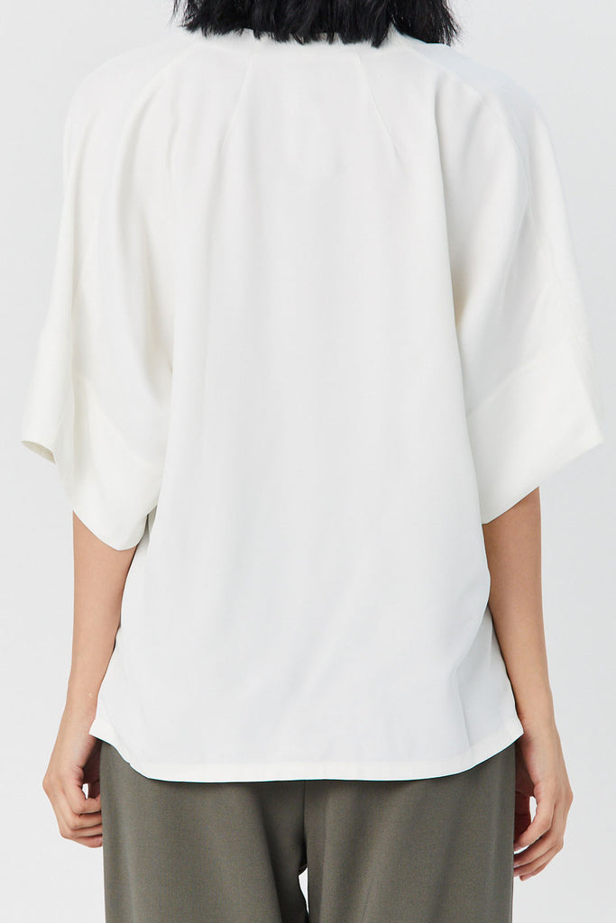 CO - Cowl Neck Top, Ivory