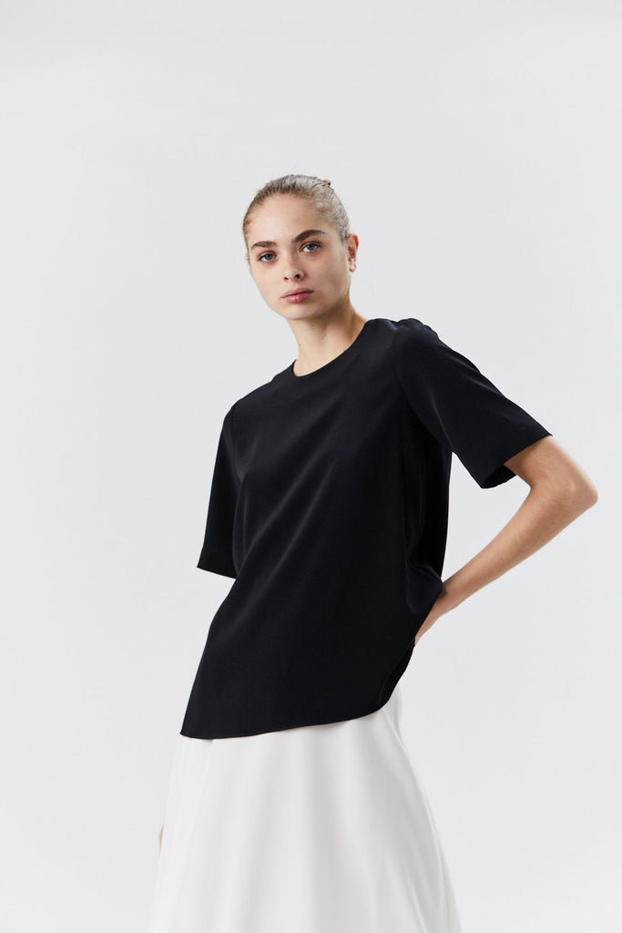 Oversized Short Sleeve Tee, Black
