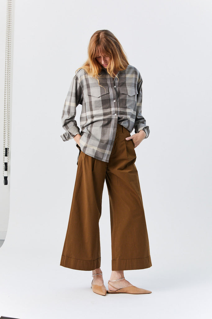 Wide Leg Pant, Brown