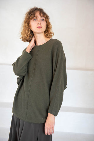 cashmere knit sweater, Olive