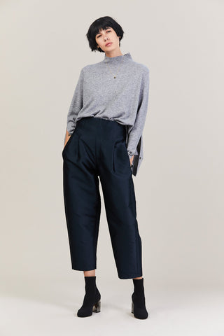 Buckle Pant, Navy