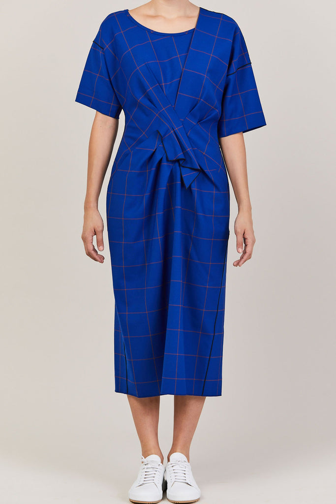 Colovos - Drape Dress, Blue