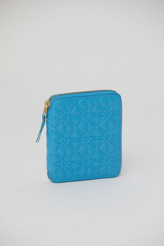 Medium Zip Wallet, Blue