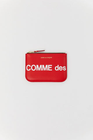 Huge Logo Pouch, Red
