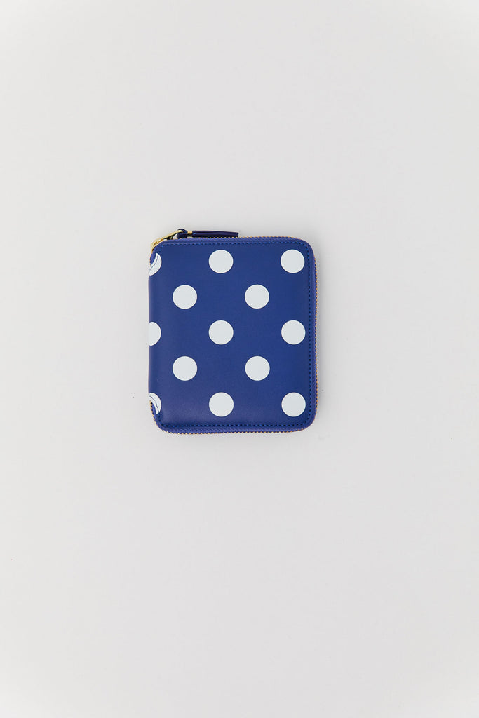 Polka Dot Printed Wallet, Navy