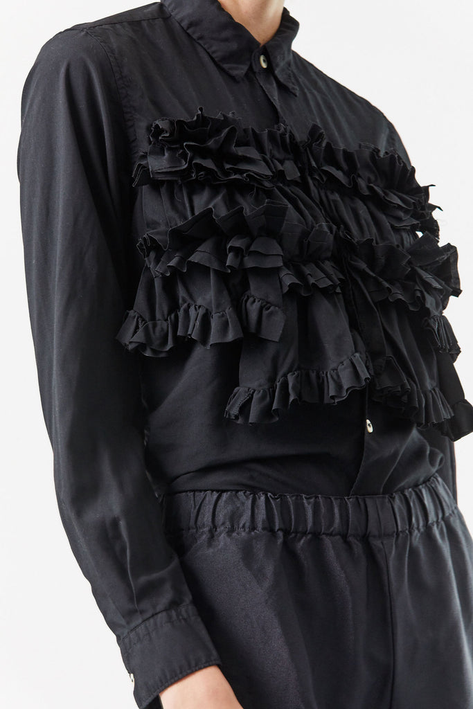 Ruffle Top, Black