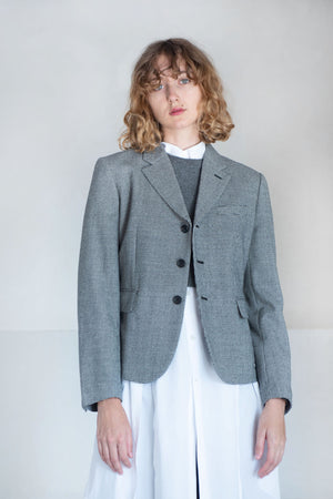 Comme des Garçons - wool check jacket, black checked