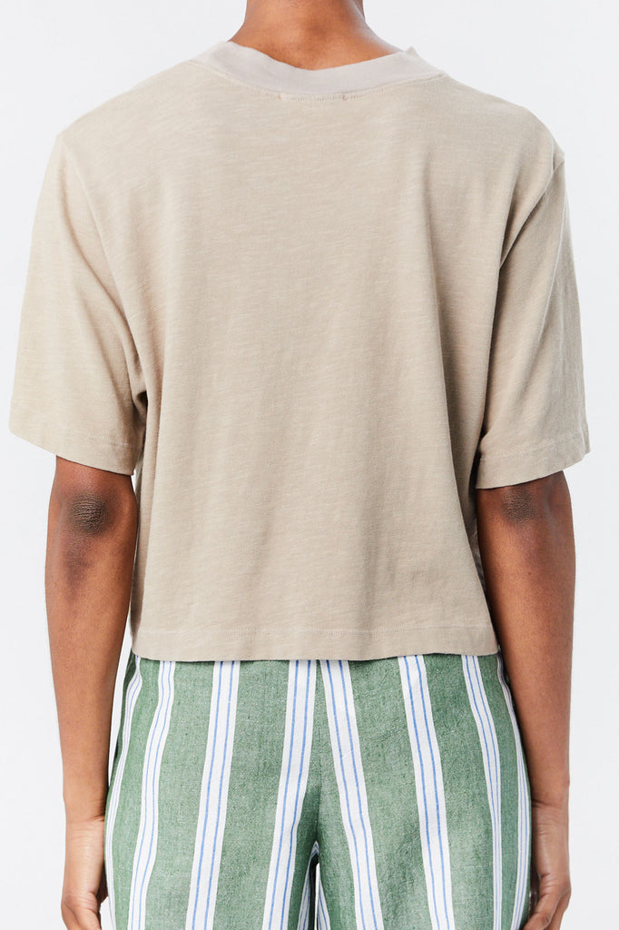 Cotton Citizen - Cotton Citizen Cropped Tokyo Tee, Cappuccino