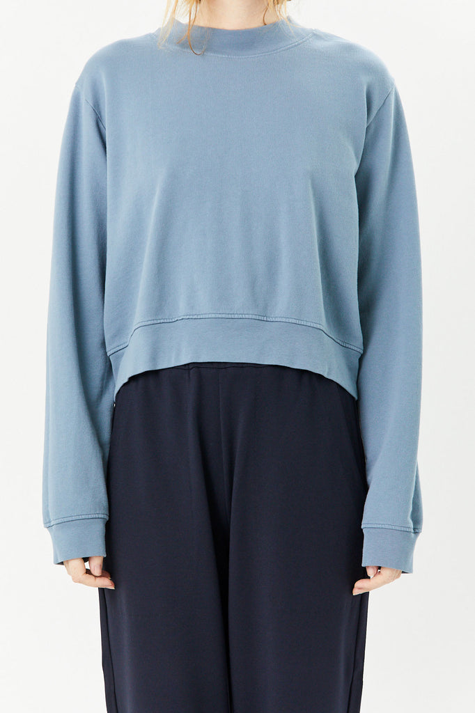 COTTON CITIZEN - Milan Cropped Sweatshirt, Desert Sky
